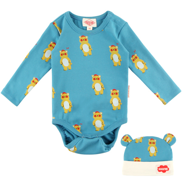 Multi bear baby bodysuit set_