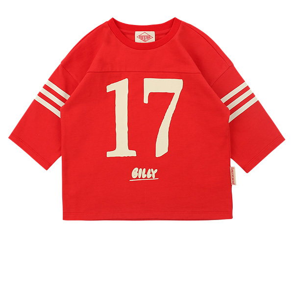 Number 17 three quarter sleeve tee