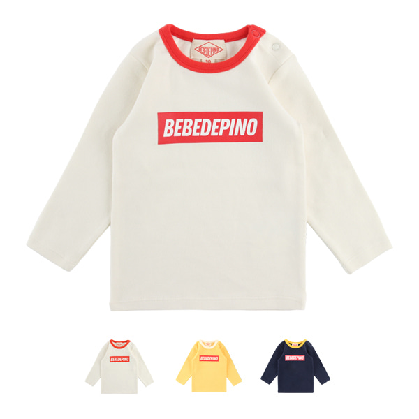 Basic baby colorblock long sleeve tee_