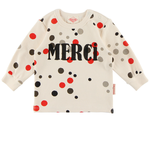 Multi sprinkle dots baby ribbed long sleeve tee  NEW FALL