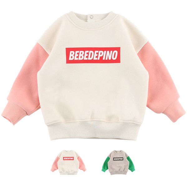 Basic baby colorblock mink fur sweatshirt