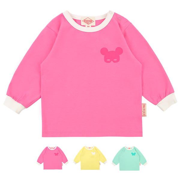 Basic baby pino mask long sleeve tee