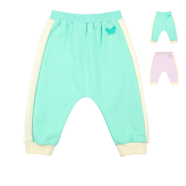 Basic baby pino mask colorblock sweatpants