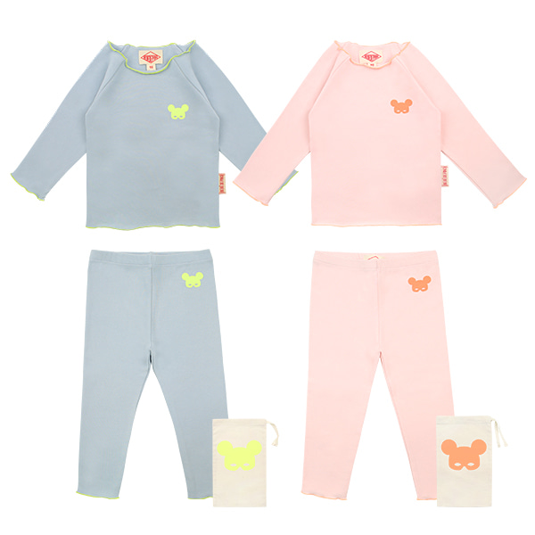 Basic baby neon mask pino homewear set