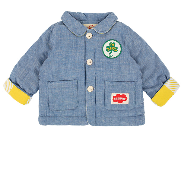 Clover baby roll up chambray jacket