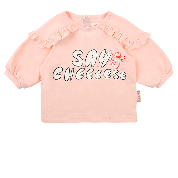 Say cheese baby ruffle volume tee