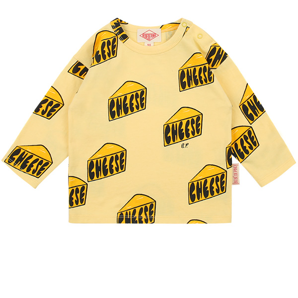 Multi cheese baby long sleeve tee