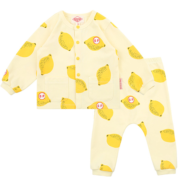 Multi lemon baby homewear set