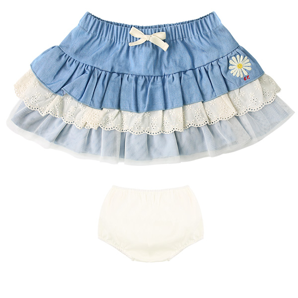Daisy baby tiered denim skirt  NEW SPRING
