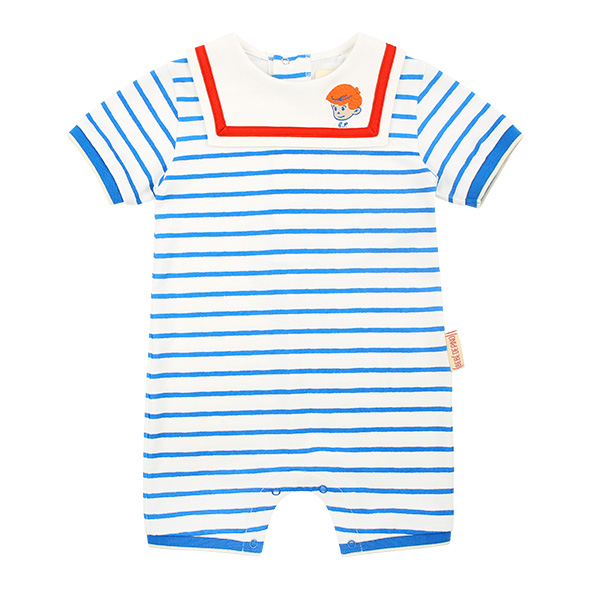 Milk monster baby sailor collar pique overall  NEW SPRING